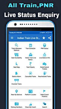 Indian Train Live Status - PNR, Seat Live Enquiry poster