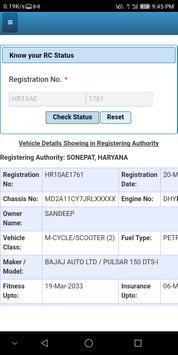 RTO Vehicle RC Status App 1.0 screenshot 3