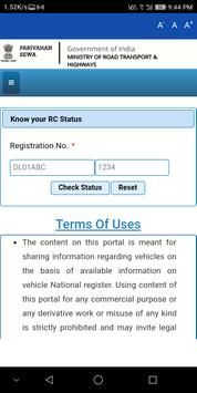 RTO Vehicle RC Status App 1.0 screenshot 2