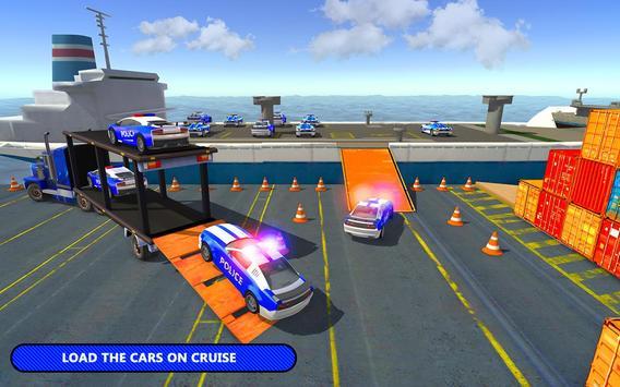US Police Car Transporter Cruise Ship Simulator screenshot 1