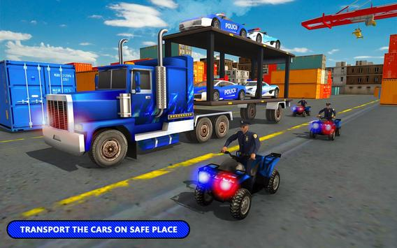 US Police Car Transporter Cruise Ship Simulator screenshot 2