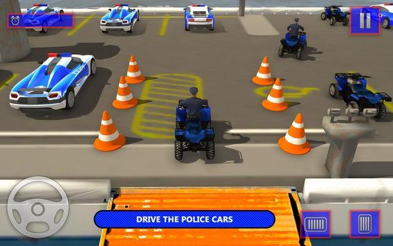 US Police Car Transporter Cruise Ship Simulator screenshot 3