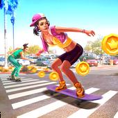 Skateboard Racing icon
