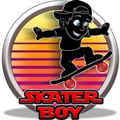 shadow boy skater kids game icon