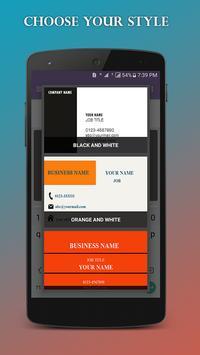 Bussiness Card Maker screenshot 3