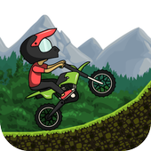 Racing forest motorbike icon