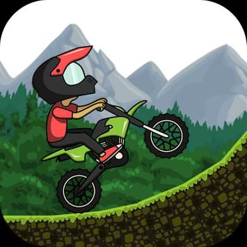 Racing forest motorbike poster