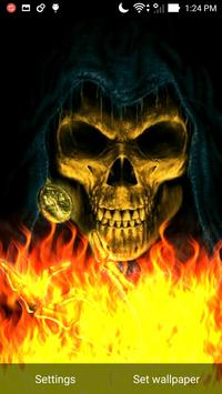 Skeleton Skull Fire Flames LWP apk screenshot