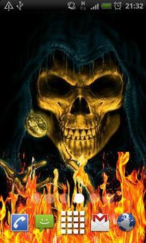 Skeleton Skull Fire Flames LWP poster