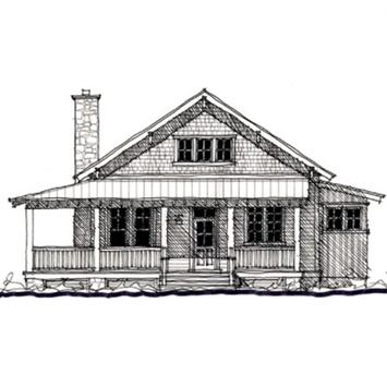 Sketch Of Home Architecture poster