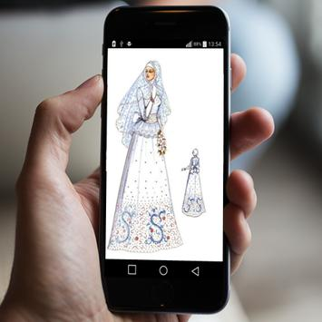 sketch of wedding dress poster