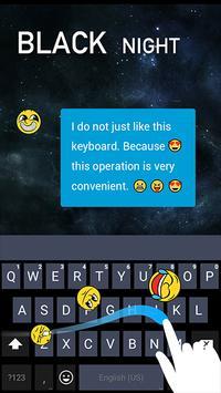 Keyboard for Black Nigh screenshot 1