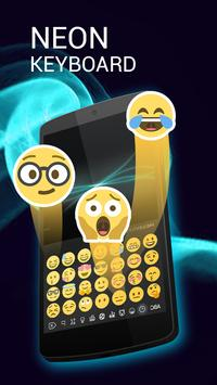 Keyboard for Neon Emoji apk screenshot