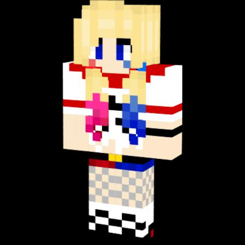 HARLEY QUIN Skin For MINECRAFT poster