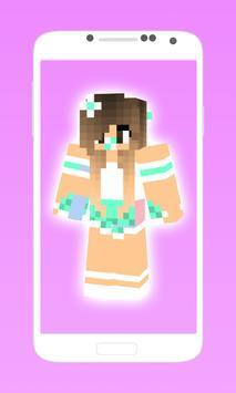 Cute minecraft skins for girls screenshot 1