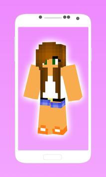 Cute minecraft skins for girls screenshot 2