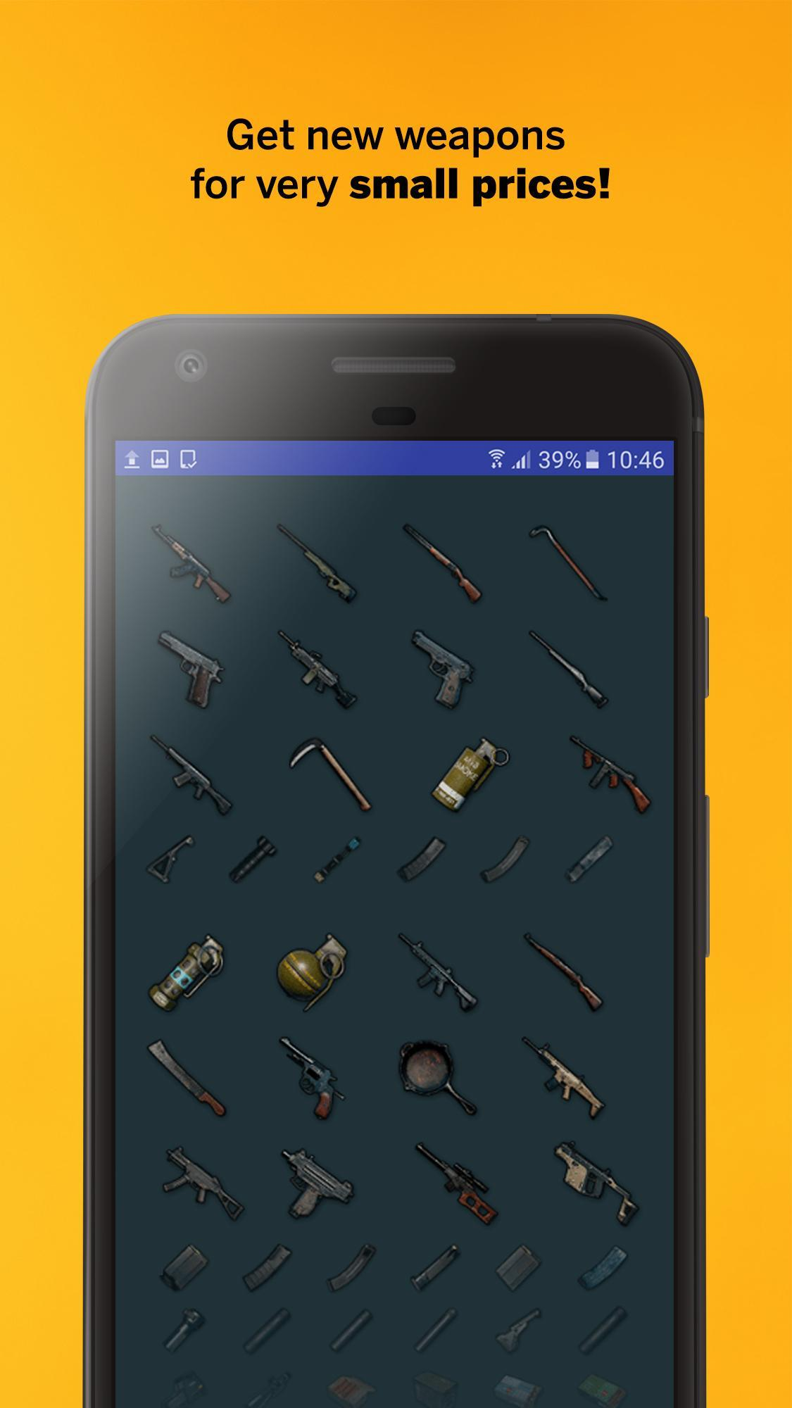Items for PUBG - Crate, Weapon, Skin Shop for Android - APK