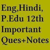 Eng Hindi Phy.Edu 12 th Notes icon