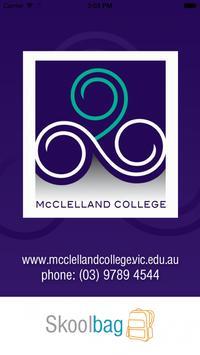 McClelland College - Skoolbag poster