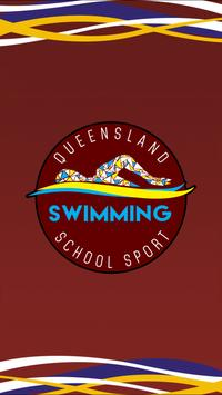 Qld School Sport Swimming poster