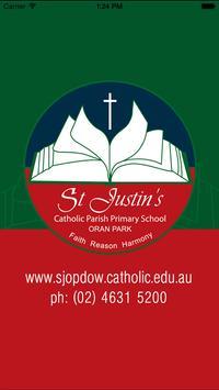 St Justin's Oran Park Skoolbag poster