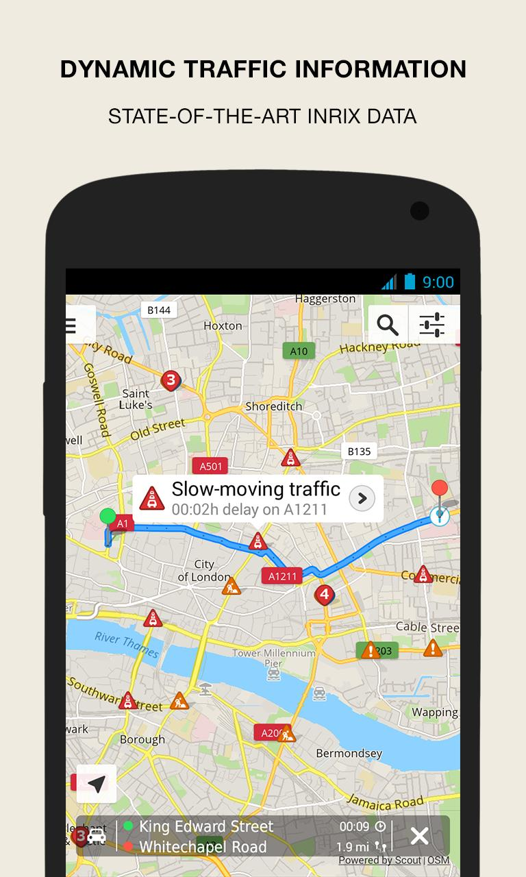 Gps Navigation Maps & Traffic Scout