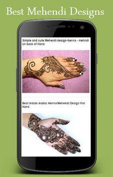 New Mehendi Designs 2016 apk screenshot