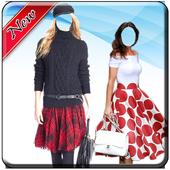 Women Mini Skirt Photo Suit icon