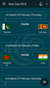 Asia Cup Fixtures and Live TV screenshot 2