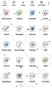 Vivid Line Widgetpack theme apk screenshot