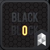 Black Block Launcher theme icon