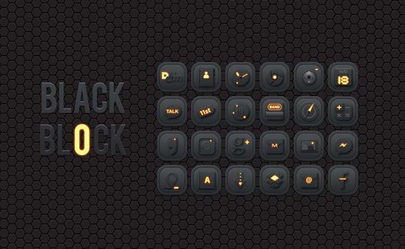 Black Block Launcher theme poster