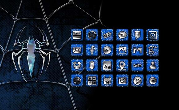 Blue Spider Launcher theme poster