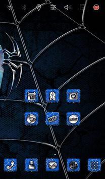 Blue Spider Launcher theme apk screenshot