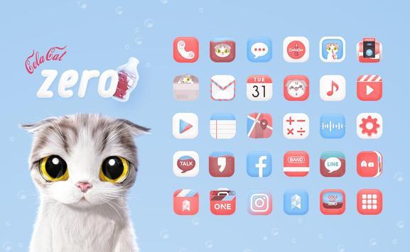 Cola Cat Zero Launcher theme poster