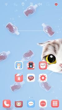 Cola Cat Zero Launcher theme apk screenshot