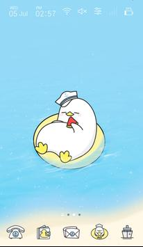 Cute Duck Happy Summer Vacation GIF icon theme poster