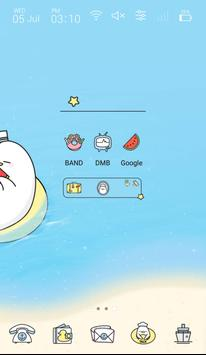 Cute Duck Happy Summer Vacation GIF icon theme screenshot 1