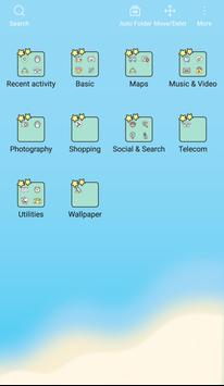 Cute Duck Happy Summer Vacation GIF icon theme screenshot 4