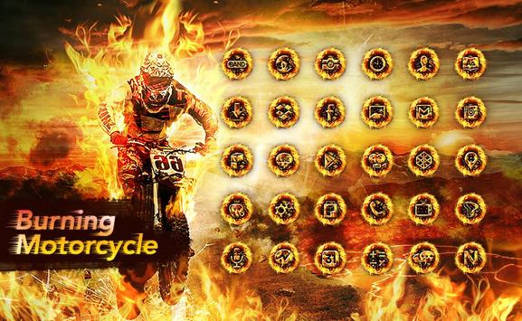 Fire Motorcycle Launcher theme poster