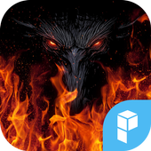 Fire Wolf launcher theme icon