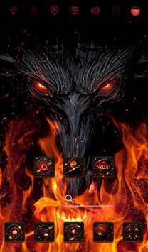 Fire Wolf launcher theme apk screenshot