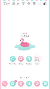Flamingo Launcher theme poster
