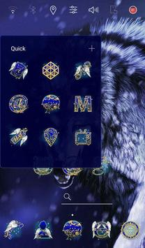 Ice Wolf theme apk screenshot
