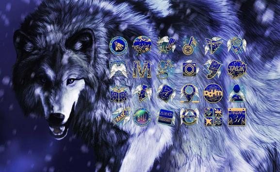 Ice Wolf theme poster