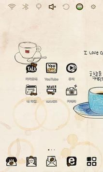 I love Coffee Launcher Theme poster