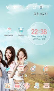 Legion of Hero Girlsday Theme apk screenshot