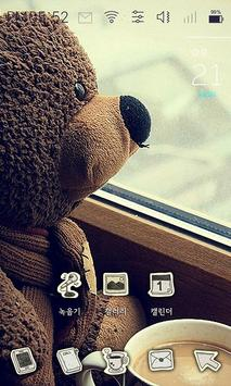 Loneliness of the teddy bear poster
