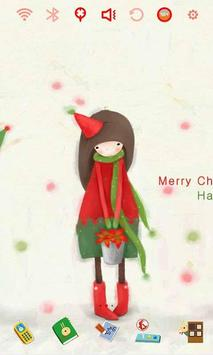 Christmas Girls Launcher Theme apk screenshot
