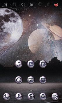 Outer Space Launcher theme apk screenshot
